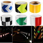 3/5M Reflective Safety Warning Conspicuity Tape Sticker Roll Film Trailer Camper