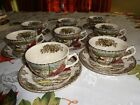 Johnson Brothers Friendly Village  Cups and  saucers made in England, set of 8