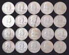 Roll of 20 Franklin Half Dollars US90 Silver Coins 10 FACE VALUE NO RES