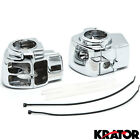 NEW Chrome Housing switch cover Pair for Harley Electra Glide Street FLHT FLHX