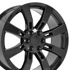 22x9 Black Rims Fit GM Cadillac Escalade GMC Set of 4 Murdered Wheels CP