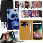 Leather Stand Flip Card Wallet Cover Case For Various Motorola Models SmartPhone