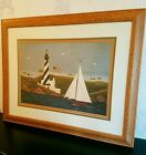 WARREN KIMBLE Coastal Breeze II Beautifully Matted&Framed American Folk Primitiv