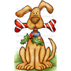 Whipper Snapper Cling Stamp 4X6 Dog Candy Bone