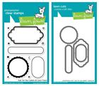Lawn Fawn Just For You Label Clear Stamp LF1132 or Custom Die LF1133