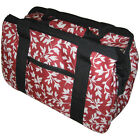 """JanetBasket Eco Bag-18""""X10""""X12"""" Red Floral"""