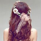 Beach Party Crown Flower Hairband Floral Headdress Bride Wedding Headband