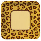 LEOPARD ANIMAL PRINT LARGE PAPER PLATES 8 Birthday Party Supplies Dinner
