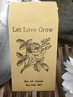 10 x Personalised Wedding Favour Seed Packets - 'Let Love Grow (Flowers 6)'