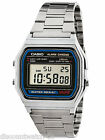 Casio A158W-1 Men's Vintage Metal Band Alarm Chronograph Casual Digital Watch