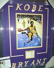 KOBE BRYANT LAKERS #8 RC GRAPH SIGNED AUTOGRAPH DOUBLE MATTED & FRAMED JSA COA