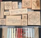 Stampin Up TIME WELL SPENT VALENTINE HEART  FLOWERS BUTTERFLY BONUS Clothespin
