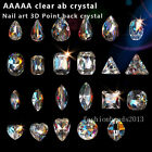 AAAAA Crystal AB Czech Crystal glass Rhinestone pointed back Nail Art Decoration