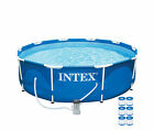 Intex 10 x 30 Metal Frame Above Ground Swimming Pool w 330 GPH Pump