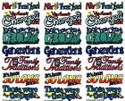 NRN Designs Family Reunion Words Scrapbook Stickers 3 Sheets Generations