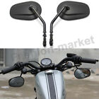 BLACK REAR VIEW SIDE MIRRORS FOR HARLEY SPORTSTER XL 883 1200 DYNA STREET BOB US
