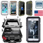HEAVY DUTY Shockproof Aluminum Glass Metal Case Cover iPhone X 5s 6 6s 7 8 Plus