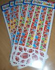 5 LARGE Packs Amscan Championship FOOTBALL Border Scrapbook Stickers