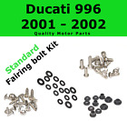 Fairing Bolt Kit body screws fasteners for Ducati 996 2001 - 2002 Stainless