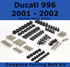 Complete Fairing Bolt Kit body screws fasteners for Ducati 996 2000 - 2001