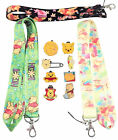 Winnie the Pooh Bear Starter Lanyard Set with 5 Themed Disney Trading Pins NEW