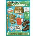 Scrapbooking Crafts Karen Foster Stickers Great Outdoors Hiking Boots Compass