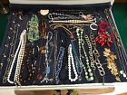 Large Lot Of 32 Unique Misc Necklaces Various Styles And Eras