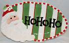 Fitz Floyd Christmas Confections HO HO HO Santa Tray NEW Cookie Holiday Platter