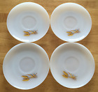 Collectible Fire King Anchor Hocking Wheat Design Saucers (Lot of 4)