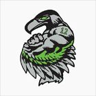Seahawks 12th Man Decals Stickers 2 Pack