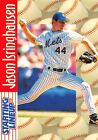1997  JASON ISRINGHAUSEN - Starting Lineup Card - SLU - NEW YORK METS