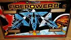 Firepower Pinball Machine Backglass (Williams, 1980)