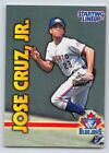 1999  JOSE CRUZ JR. - Starting Lineup Card - TORONTO BLUE JAYS