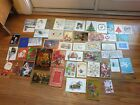 Vintage Greeting Cards Lot 50 pc used Christmas Scrapbooking Crafts
