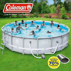 Coleman Above Ground Pool with Sand Pump and Deck