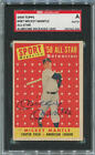 Mickey Mantle Signed 1958 Topps Card. SGC Authentic. All-Star