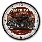 American Classic Motorcycle Lighted Wall Clock