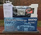 BOOMBOX GHETTO BLASTER SANYO BIG-500K NEW OLD STOCK 120 WATTS P.M.P.O.