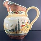 Certified International Tuscan Landscape Pamela Gladding Italy Painted Pitcher