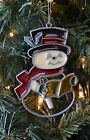 Vintage Christmas Ornament Stained Glass Snowman Ornament