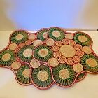 Vintage Woven Trivets Set 3 Raffia Straw Hot Pads Retro Wall Decor Large Star