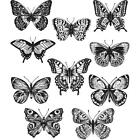 NEW Tim Holtz Stampers Anonymous FLUTTER Butterflies Rubber Cling Stamp Set