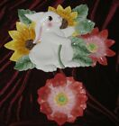 Fitz and Floyd Bunny Blooms Chip and Dip Set New in Box