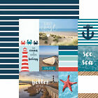 Paper House EAST COAST TAGS 12x12 Dbl Sided Printed Cardstock 3x4 4x6 Cards