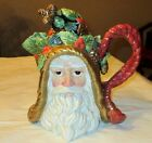 NEW IN BOX FITZ & FLOYD CLASSICS HOLIDAY PINE TEAPOT, SANTA, RETIRED