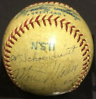 1945 St Louis Cardinals team signed baseball 11 auto Al Red Schoendienst CBM COA