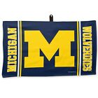 MICHIGAN WOLVERINES WAFFLE GOLF TOWEL 14X24 BRAND NEW FREE SHIPPING WINCRAFT