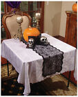 NEW Black Spider Web Lace Table Runner 72 Halloween Gothic
