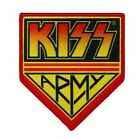 Large KISS Army Logo Patch Rock Band Fan Club Member Apparel Iron On Applique