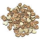 Baby Shower Wooden Shabby Chic Craft Scrapbook Vintage Confetti Hearts 10mm
